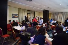 Networking at the Lagos Symposium Open Lunch