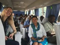 PI Dr Mia Perry and Dr Deepa Pullanikkatil on the Lagos tour